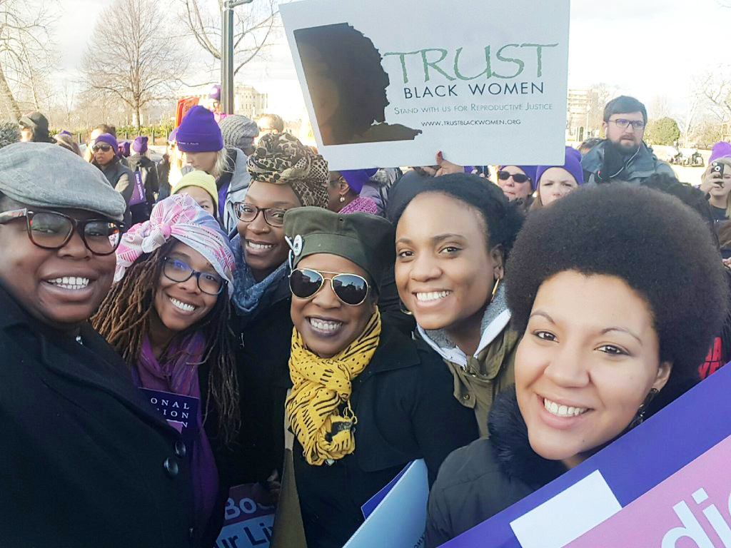 Black women who stand for reproductive justice.